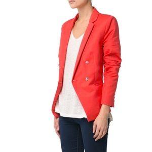 MNG orange suit blazer jacket size small
